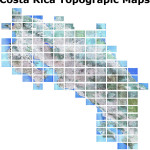 Costa Rica Topo map sheets available in the 133 map series