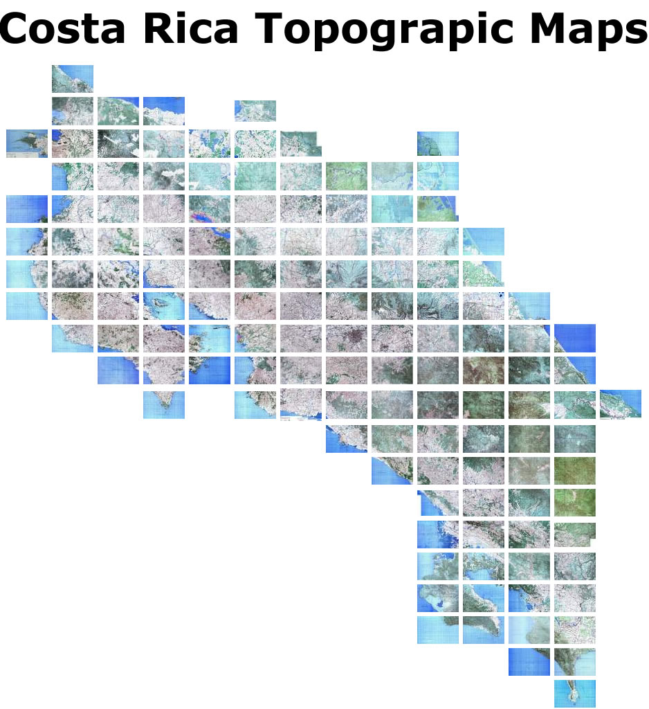 Topographical Map Sheets Available from IGN Instituto Geográfico