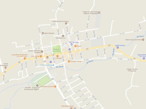 La Fortuna Street Numbers and Names