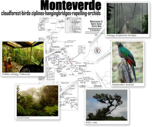 Monteverde Santa Elena photo map