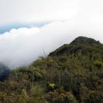 A the top of sendero mirador Volcán Turrialba National Park