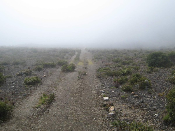 Along the lower mirador spur trail in the main crater, Volcán Turrialba National Park