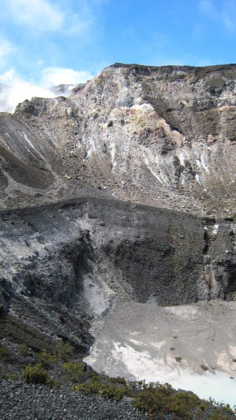 Center crater and west crater Turrialba