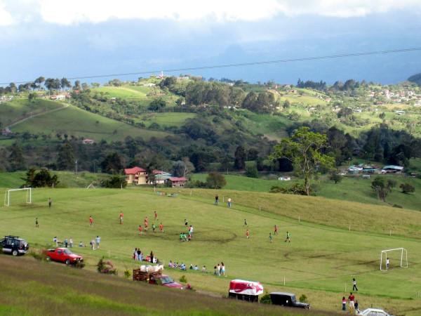 Sloped pitch on the slopes