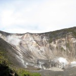 The central crater is the largest and deepest at Volcán Turrialba