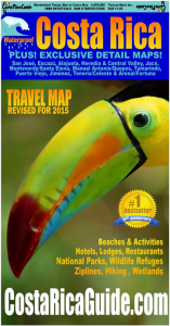 Toucan Waterproof Travel Map of Costa Rica