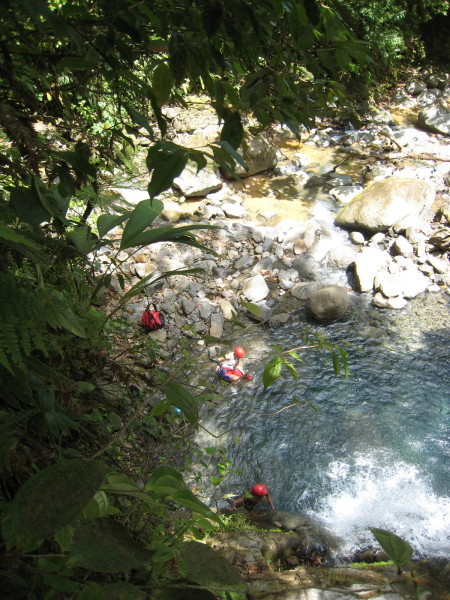From the top of one of the waterfalls