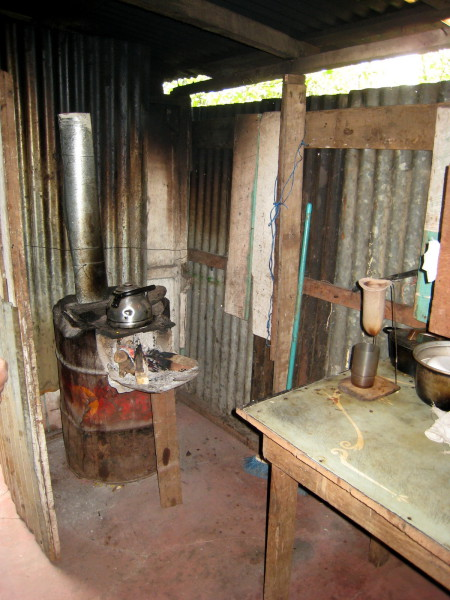 A traditional Costa Rican kitchen