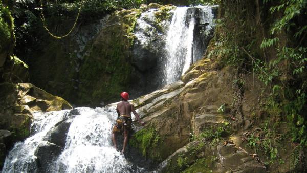 First descent canyoneering quebrada Gata