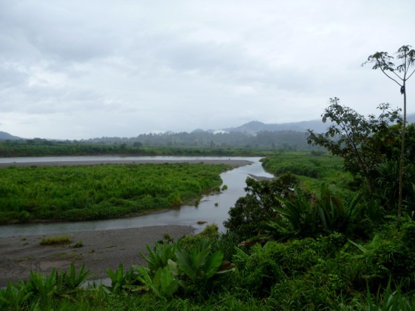 The Río Sixaola with Panama in the background