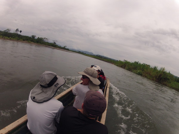 "This short boat ride was the only place we ""cheated"" and used motorized transportation. The original plan was to make the trek across Costa Rica entirely human powered, but when it really came down to it no one seemed to think it detracted from the experience to use the dugout"