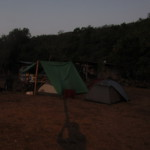 Crack of dawn - soccer field camp Ujarras