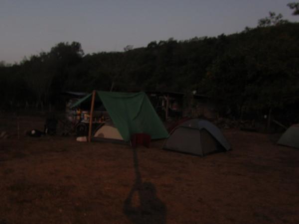 Crack of dawn - soccer field camp Ujarras