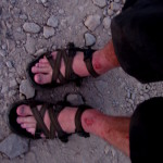 My feet and legs were a little beat up and it was nice to have on sandals and dry ground under them for a change