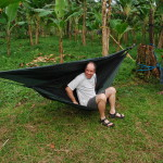 Chris was still experimenting with his Hennessy Hammock and got it a little low