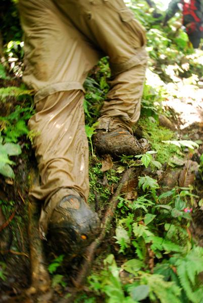 Muddy climb