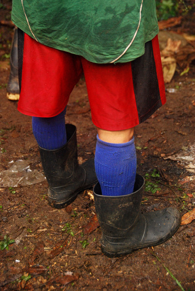 The footwear of choice for our guides and porters was rubber boots