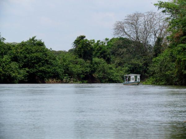 Boat on the Río Frío