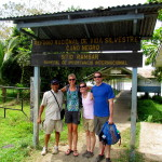 The Cano Negro Village entrance to the Wildlife Refuge - most commercial tours enter from Los Chiles near the Nicaraguan border and go up the Rio Frio