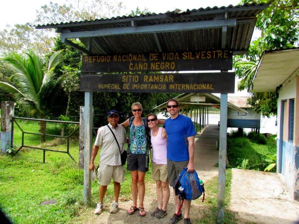 The Cano Negro Village entrance