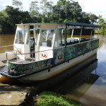 A typical sightseeing boat on the Rio Frio
