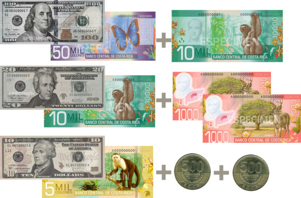 Costa RIca Colón Equivalent US-Currency-2017