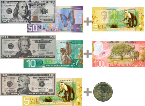Colones Equivalent U.S. Currency