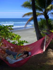 Nap time at in a hammock at La Leona