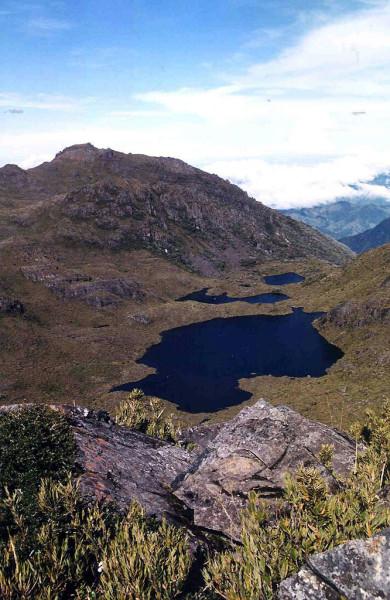 Paramo from the peak of Chirripo