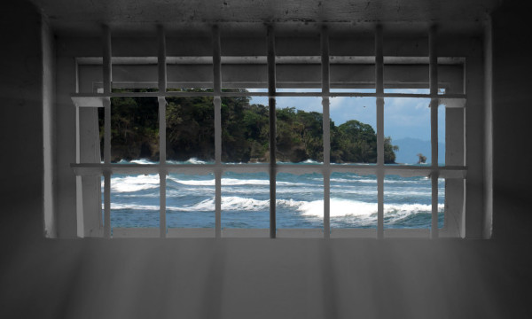 Prison Bars Beach