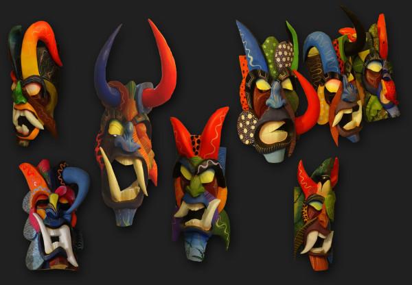 Boruca Masks