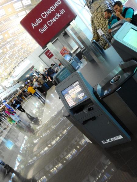 Airline self check in kiosk at SJO