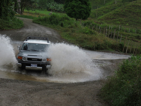 Fording is easier with a real 4WD and when you don't have to worry about voided rental insurance