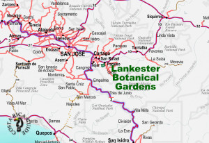 Lankester Botanical Gardens Location