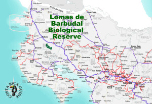 Lomas de Barbudal Biological Reserve Location