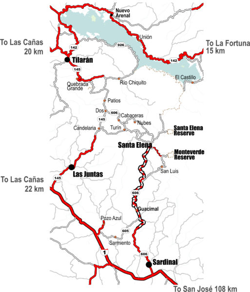 map of new Monteverde paving project