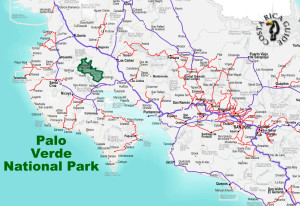Palo Verde national Park Location
