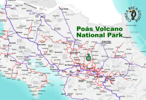 Poas Volcano National Park Location