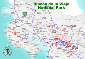 Rincon de la Vieja National Park Location