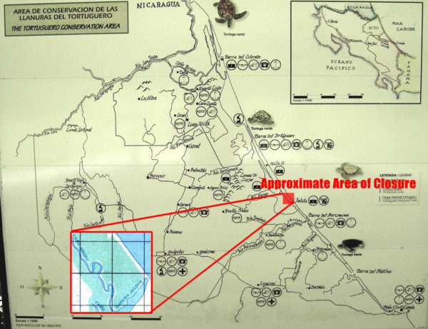 Tortuguero Closure Map