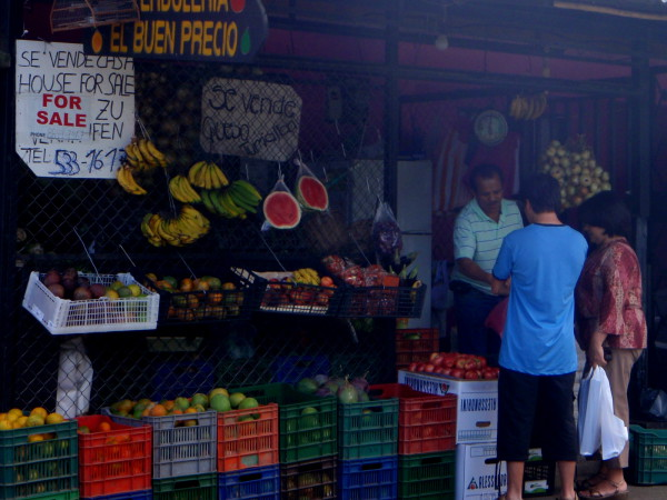 Fruit stand in Orosi