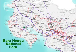 Barra Honda national Park Location