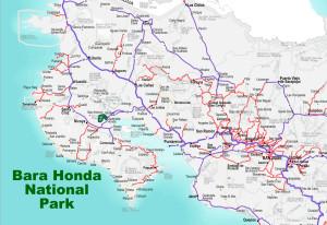 Barra Honda national Park Location