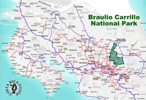 Barulio Carrillo National Park Location