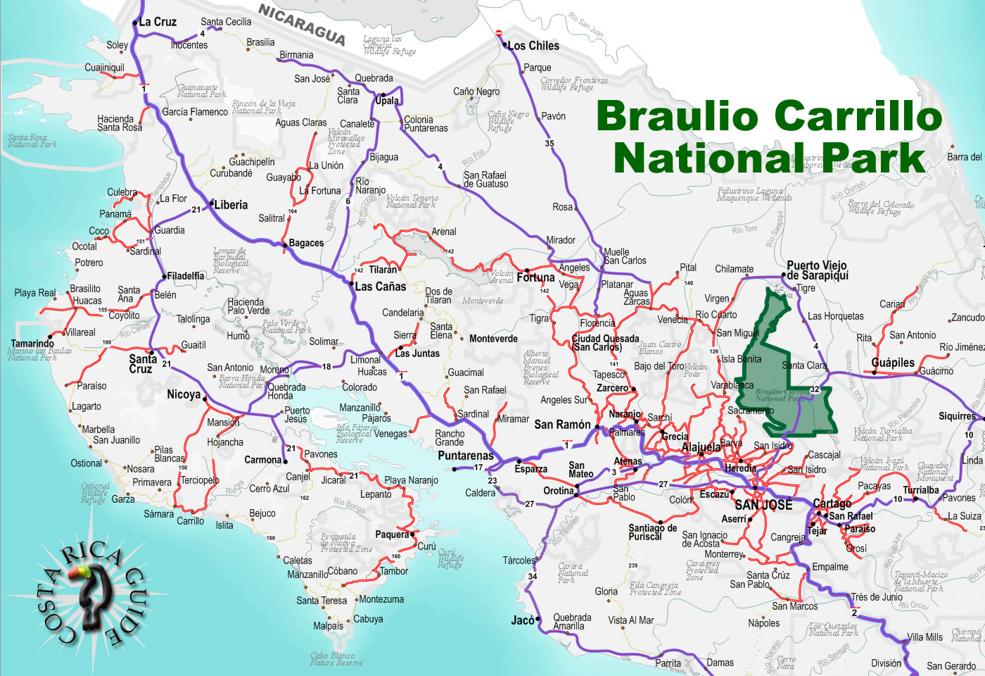 Braulio carrillo national park costa rica barulio carrillo national park location publicscrutiny Image collections
