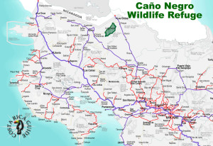 Cano Negro Wildlife Refuge Location