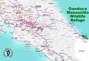 Gandoca Manzanillo Wildlife Refuge Location