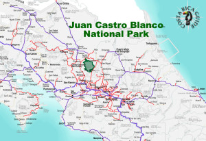 Juan Castro Blanco National Park Location