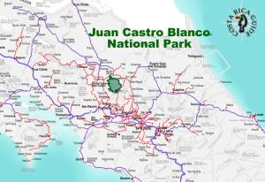 Juan Castro Blanco National Park Location