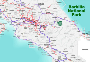 Barbilla National Park Location